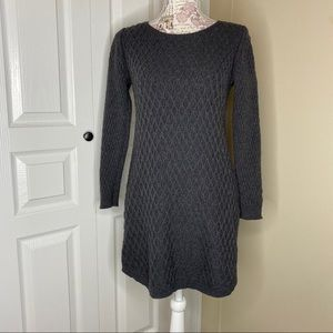 Sweater Dress Loft Petites Gray Knit Size Small